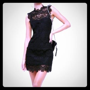 NWT Free People black lace halter dress
